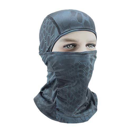 Jinxuny Stofdicht Masker Gezichtsmasker Outdoor Print UV Bescherming Winddicht Ademend Zonnebrandcrème Volledig Gezichtsmasker voor Fietsen Klimmen, Police black