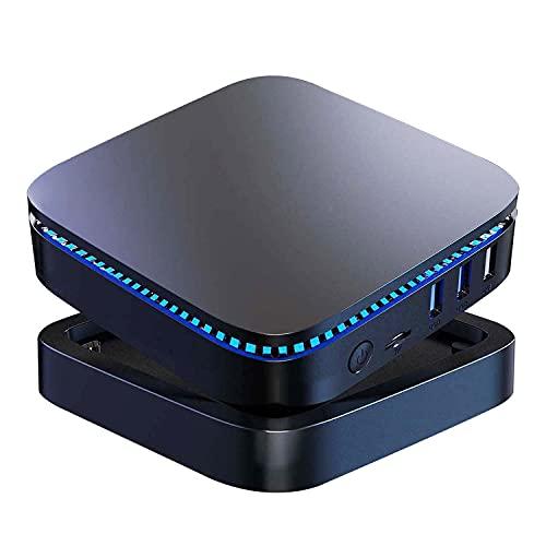 Mini PC, NiPoGi Celeron J3455 6GB RAM / 128GB ROM Mini Computer con Windows 10 Pro, Micro PC Supporto Dual HDMI@4K HD, Bluetooth 4.2, Tiny Case PC per Lavoro, Riunioni, Ufficio, Scuola e HTPC