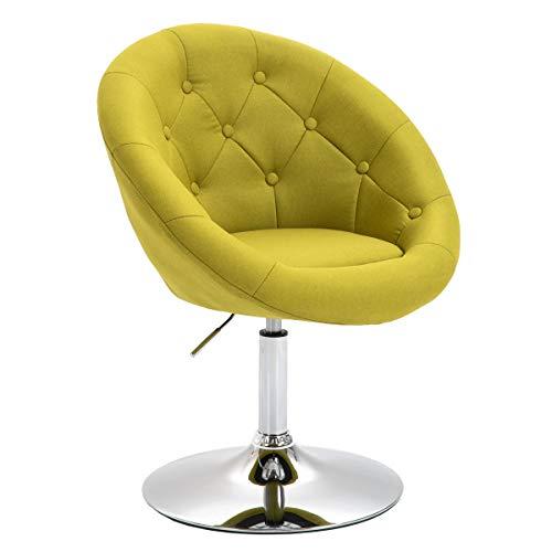 SVITA Havanna Sessel Lounge Clubsessel Drehsessel Stoff Cocktailsessel Retro Barhocker Grün