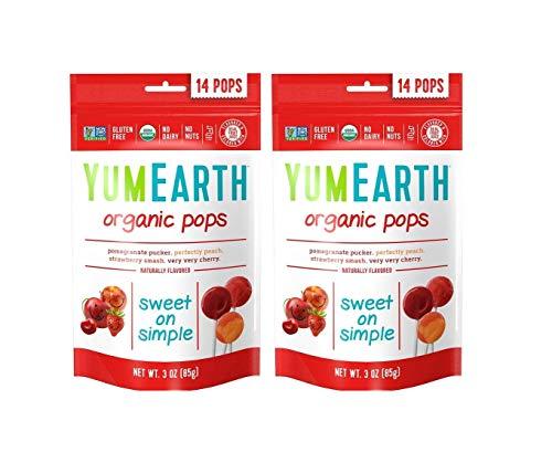 YumEarth, Organic Pops, 14 Lollipops, 3 oz (85 g) YumEarth, Organic Pops, 14 Lollipops, 3 oz (85 g) - 2pcs