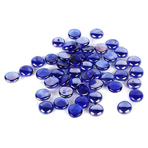 Houseables Glass Stone, Marbles, Pebbles for Vases, 5 LB, Flat Bottom, Round Top, Rocks, Bowl Filler Gems, Iridescent Decor, Decorative Centerpieces, Florist Supplies, Aquarium