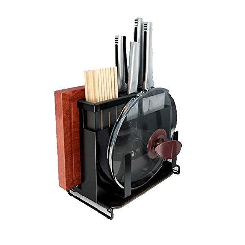 JISHIYU - Soporte de cuchillo inclinado de acero inoxidable para guardar cuchillos y utensilios de cocina multifuncionales insertos para cuchillos de cocina, apto para almacenar cuchillos, tijeras