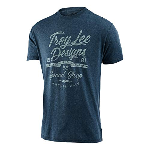Troy Lee Designs Men's Widow Marker Shirts,Large,Indigo Black Heather