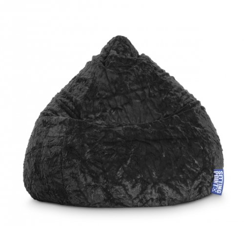 SITTING POINT only by MAGMA Sitzsack Fluffy XL ca. 220 Liter schwarz