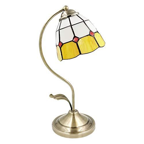 テーブルランプ アンティーク ステンドグラス LED電球対応 コンセント 全2色 テーブルライト おしゃれ かわいい LED ランプ ベッドサイド 間接照明 インテリア 卓上ライト 照明 スタンドライト フロアライト 北欧 モダン レトロ 寝室 ライト (
