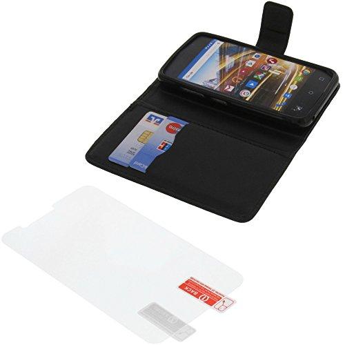 foto-kontor Tasche für Archos 40 Neon Book Style schwarz Schutz Hülle Buch + Schutzfolie
