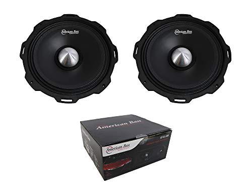 "Pair of 8"" American Bass Shallow Mid-Range 1600 Watt 4 Ohm Loudspeaker GF8MR"