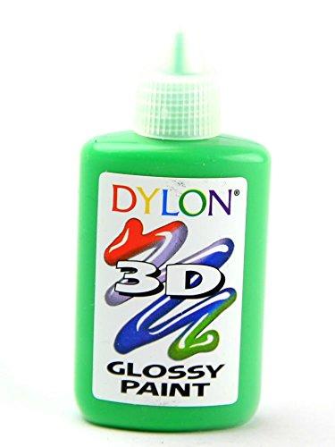 Dylon 3D Fabric Paint Glossy Green - each