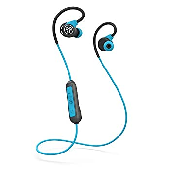 Jlab Fit Sport 3 Wireless Fitness Gym Earbuds | Bluetooth 4.2 | 6 Hour Battery Life | Flexible Memory Wire |IP55 Dust/Sweat Proof Rating | Noise Isolation | Universal Track Controls | Blue