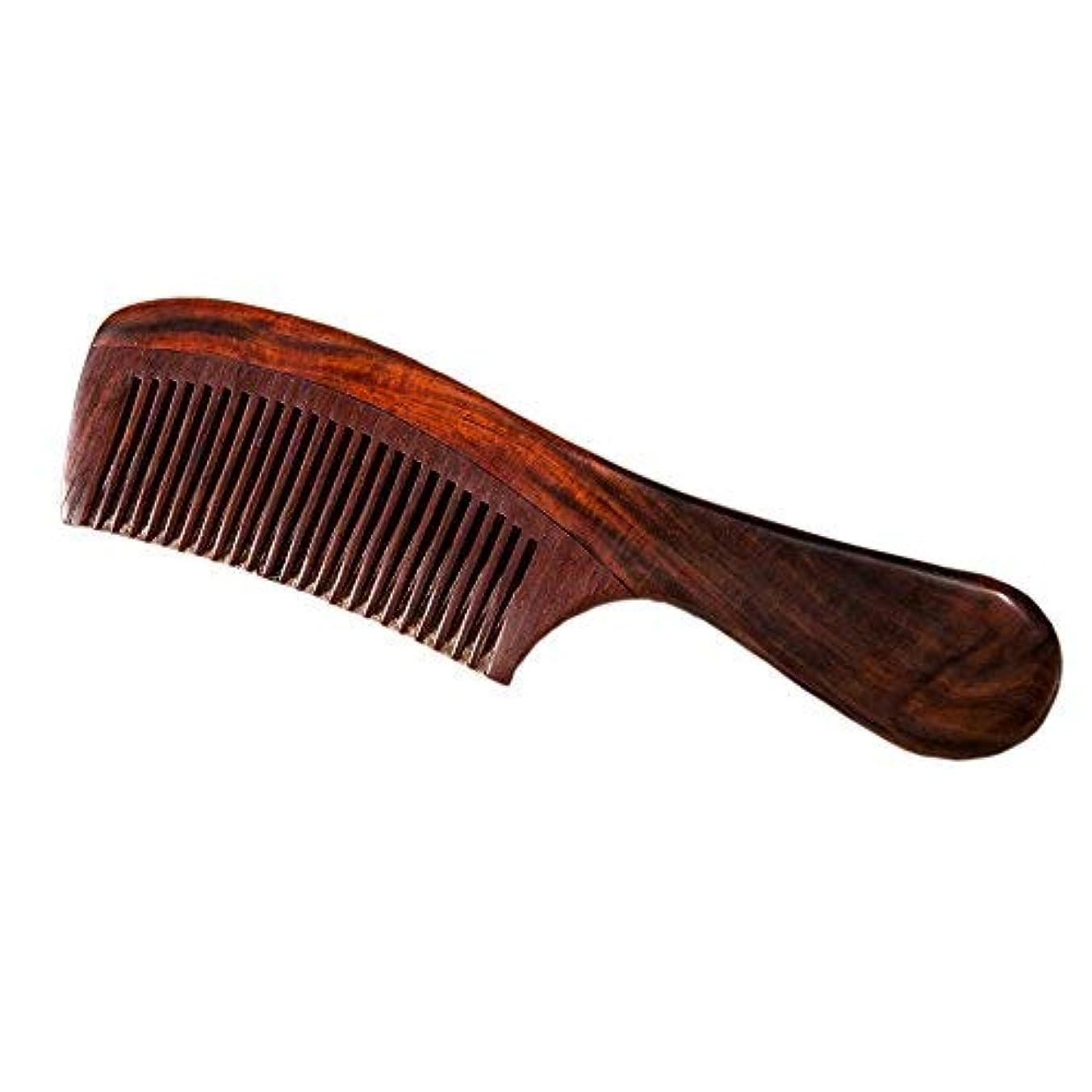 レイプ安西疾患Natural Redwood Hair Comb, No Static Handmade Medium Tooth Hair Comb, Smooth and Comfortable Message Wood Comb with Handle 19cm [並行輸入品]