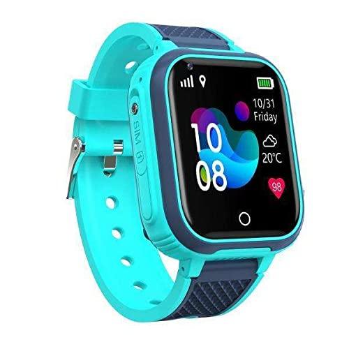 B Blesiya 2X IP67 Reloj Inteligente para Niños WiFi Reloj para Teléfono Cámara Rastreador Llamada Bidireccional Linterna Calculadora Contador de Pasos para Niño