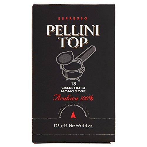 Pellini Caffè, Espresso Pellini Top Arabica 100%, Cialde Monodose, 18 Cialde Monodose
