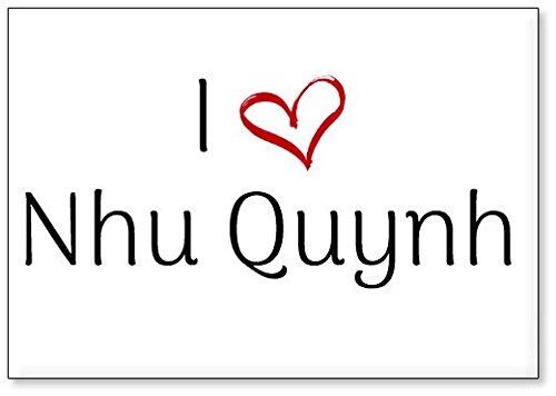Mundus Souvenirs - Amo NHU Quynh, Imán para Nevera (diseño 2)