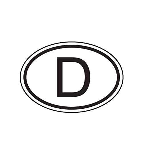 D Germany Country Code Oval Sticker Decal Self Adhesive German Euro Truck Car Decal Vinyl Bumper Sticker Sticks to Any Surface 5