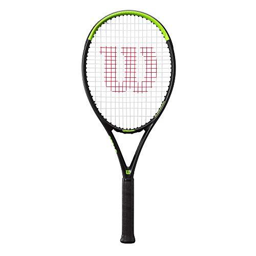 Wilson Raqueta de tenis, Blade Feel 105, Jugador de tenis recreativo, Compuesto de fibra de vidrio y aluminio, Verde Negro, WR054610U3