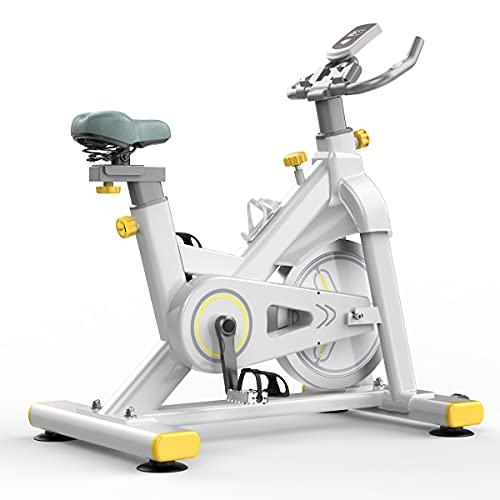 WOERD Bicicleta de Spinning Bicicleta Indoor de Volante de Inercia 6 Kg, Bicicleta Estática Hogar, Bicicleta de Asiento para el Hogar con Monitor Digital, 150 Kg de Carga