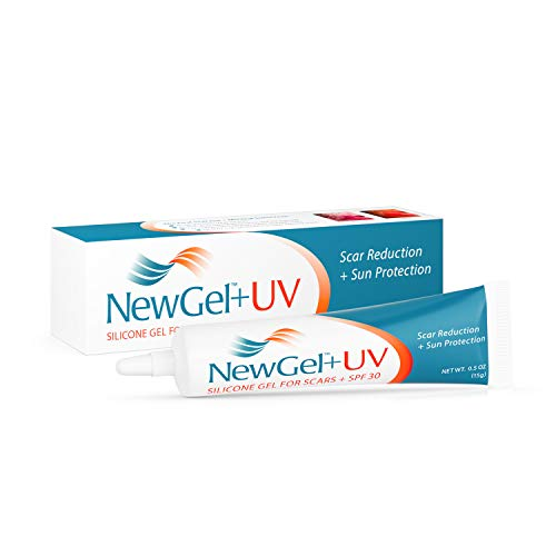 NewGel+UV Silicone Gel for Scars + SPF 30, Medical Grade Silicone with Mineral Sunscreen. 15g (0.5 oz)