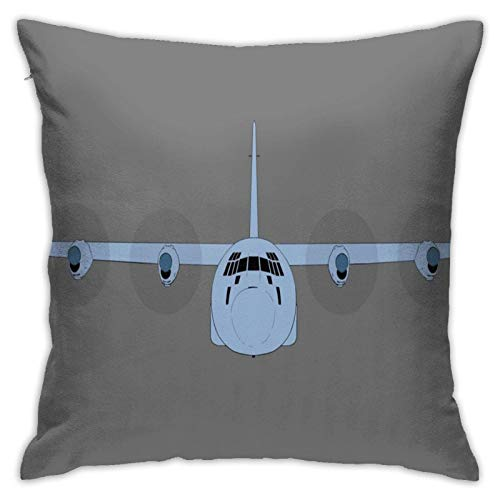 pingshang Loheed Martin C-130 Hercules - Fundas de almohada cuadradas para decoración del hogar, 45,7 x 45,7 cm