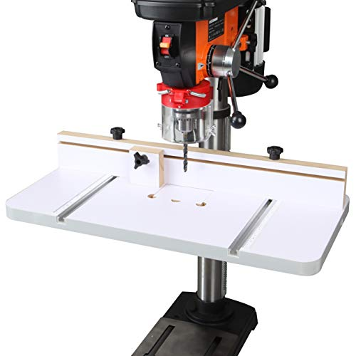 WENWORX Drill Press Table 12 x 24 Inch With Adjustable Fence for Maximum Holding Power Include 2 T-tracks