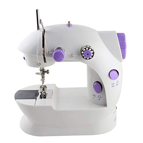 Máquina de coser eléctrica lxfy, máquina de coser portátil, ajustable a máquina de 2 velocidades con pedal de pie
