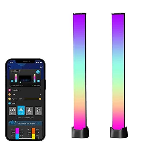 SBKDPT Barras de luz LED Inteligentes, Luces para Juegos con Bluetooth, Barra de luz RGB con 15 Modos de Escena y 4 Modos de música, Tira de LED de atmósfera para la habitación