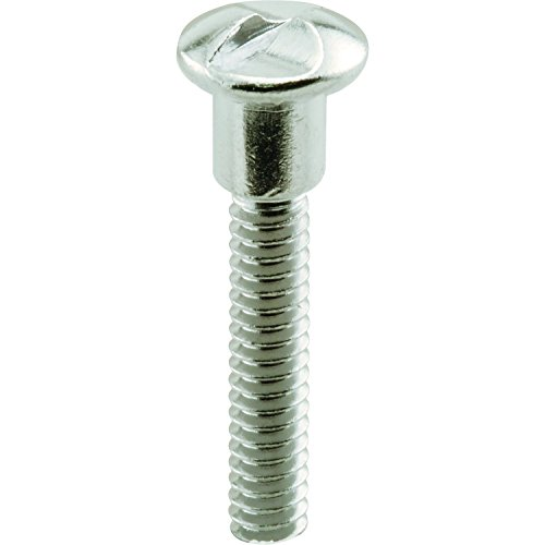 Prime-Line Products MP17055 One-Way Shoulder Screws, 10-24 x 1-3/16 in, Steel Const, Chrome Plated, 25 Pack, 25 Piece