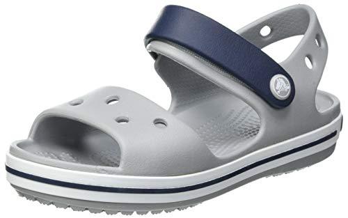 Crocs Crocband Sandal Kids, Light Grey/Navy, 33 EU