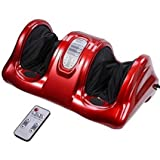 Unitech Foot Leg Massager Red Kneading and Rolling Calf Ankle w/Remote