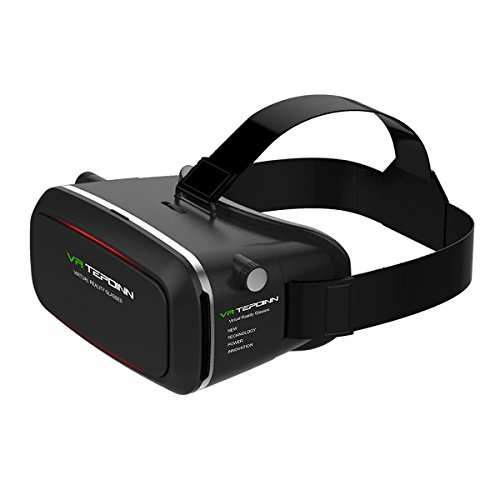 Tepoinn Occhiali Realtà Virtuale,Occhiali Virtuali 3D per spettatori di Realtà virtuale Occhiali per 4,0~5.7 Pollici Smartphones iPhone (37)
