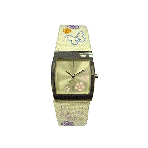 The Olivia Collection P13528 – 12 – Montre de Poignet pour Homme, Bracelet en Tissu Beige