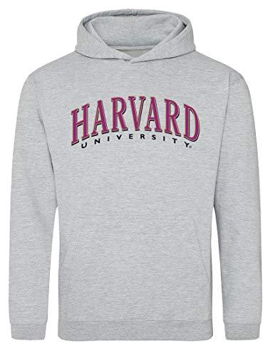 Moletom com capuz Harvard University Apparel com logotipo do time NCAA Harvard Crimson, Harvard 3 cinza, S