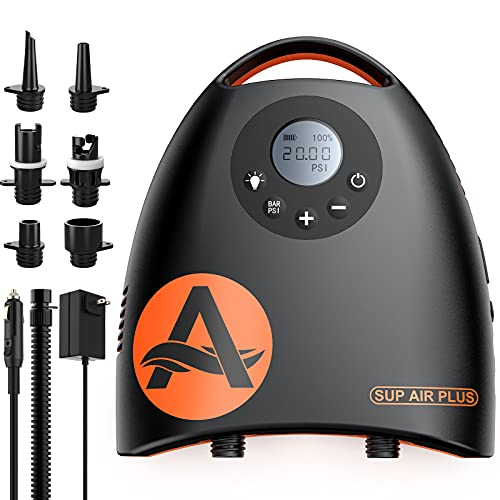 awesafe 20PSI High Pressure SUP Electric Air Pump with 7800mAh Rechargable...