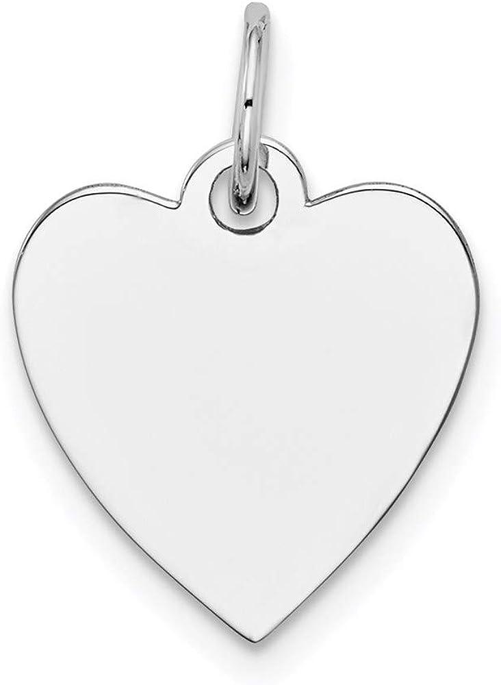 Charm Pendant 14K White Gold Limited time sale 18 Plain Engravabl Gauge Washington Mall 14 .035 mm