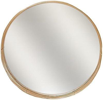 Elsa L Mirrors 24-Inch Round Wire Nest Mirror in Brass
