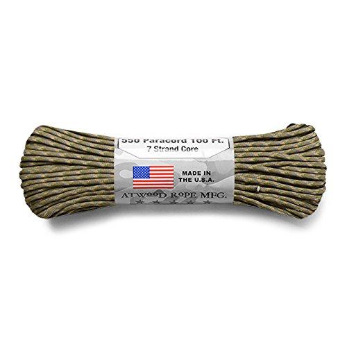 ATWOOD ROPE MFG. アトウッド・ロープ 7Strand 550Lbs パラコード 100フィート MADE IN USA (MULTICAM)パラ...