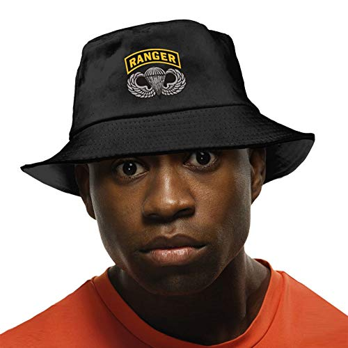 YOSYO Us Army Ranger Tab Unisex Cotton Fisherman's Hat Novelty Colorful Outdoor Sun Visor Caps Black