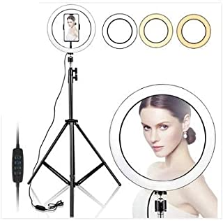 """10"""" Selfie Ring Light with 210CM Long Tripod Stand & Cell Phone Holder - Ring Light for iPhone Android, Light Stand for Li..."""