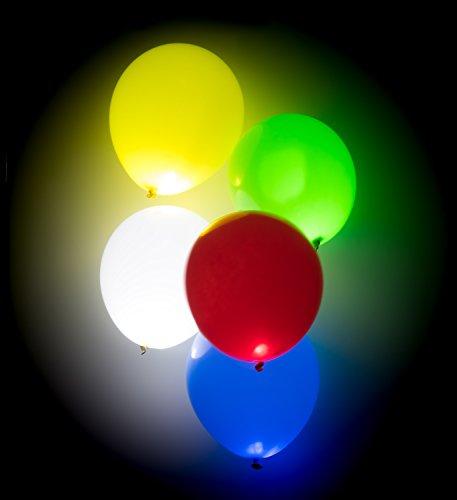 Trendario - Led Blinkende Luftballons - 15 Stück - Leuchtende Ballons - Bunt - Party, Geburtstag, Hochzeit, Festival Inklusive Licht - Helium Ballons
