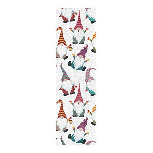 Hoja de cinta de agarre para monopatín, 83 x 22,8 cm, papel de lija de gnomos navideños para monopatín, Longboard, Griptape sin burbujas