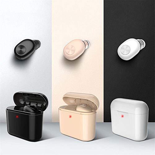 Auriculares de Zhhhk Bluetooth Auriculares Inalámbricos con Una Sola Oreja con Bluetooth Mini Invisibles con Caja De Carga Deportes En Espera Largos Conducción Auriculares Bluetooth (Color : White)