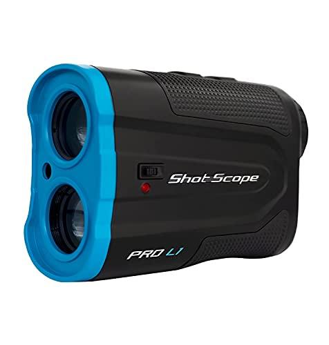 Telémetro láser Shot Scope Pro L1 - Óptica roja y Negra - Tecnología de Pendiente Adaptable - Vibración de Bloqueo de Objetivo - Precisión de 0,1 Yardas