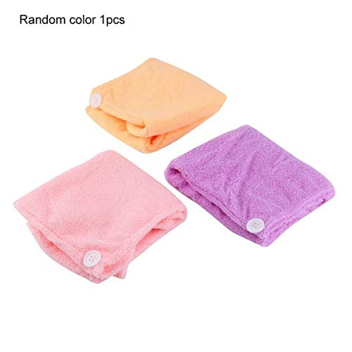Womens Girls Lady Magic Quick Dry Bad Haare trocknen Handtuch Kopf wickeln Hut Make-up Kosmetik Cap Bad Tool - Farbe zufällig
