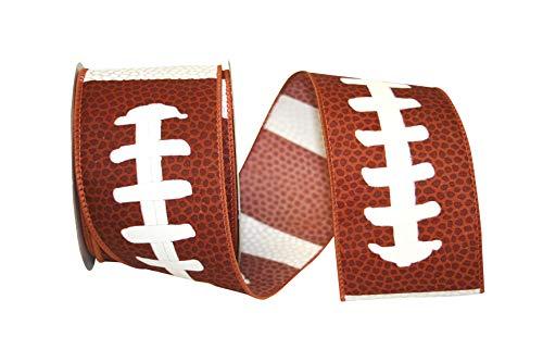 Reliant Ribbon Football Pigskin We Rd Ribbon, 2-1/2 Inch X 10 Yards, Brown