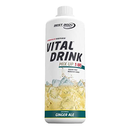 2 x Best Body Nutrition Vital Drink, 1L Flasche , Ginger Ale (2er Pack)