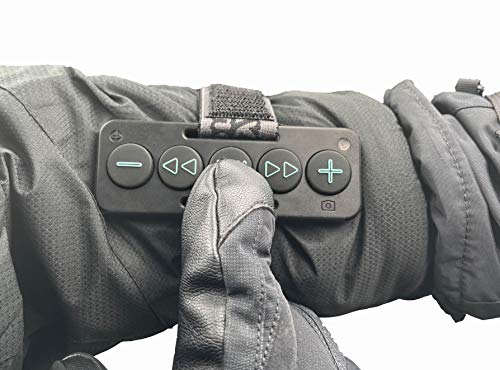 Chubby Buttons 2- Wearable & Stickable Bluetooth 5.1 Remote | Big Buttons for Gloves | Water-Resistant