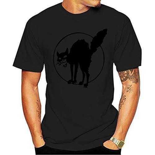 Burzum 2021 Casual Fashion T-Shirt 100% Cotton The Black Cat Sabotage iww Anarchism Anarchist cat Black