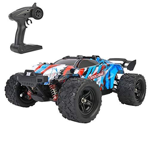 1:18 Ferngesteuertes Auto 2.4GHz 45KM/H Hohe Geschwindigkeit RC Rennauto mit Fernbedienung 4WD Alles Terrain Elektrisches Spielzeugauto für Erwachsenen & Kinder(Blue)