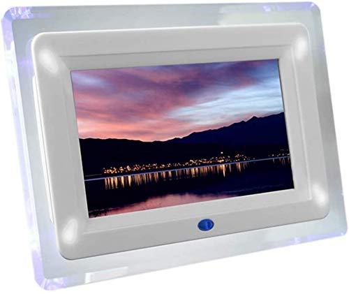 GOHHK Digitaler Bilderrahmen, 7 Zoll digitaler Acryl-Fotorahmen mit Licht, 800 x 480...