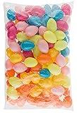 Idena 31489 Kunststoffeier für Ostern mit Öse, 100 Stück, je 6 cm, Dekoration, Basteln, Frühlingsdeko, Osterdeko, Ostereier, bunt