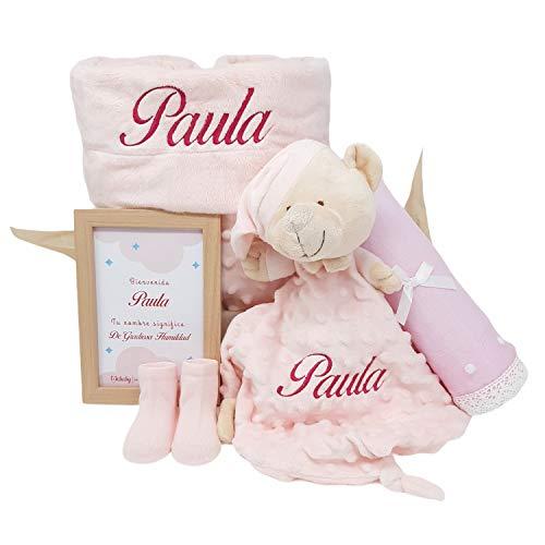 Cesta de Bebé Candy Sweet | Set Regalo Bebé Personalizado | Canastilla Bebé de Mababyshop